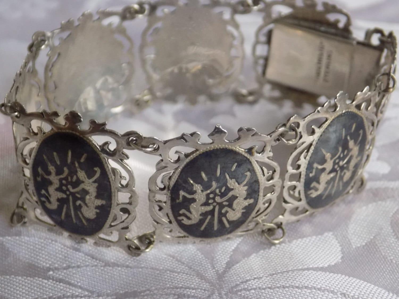 vintage bracelet signed siam sterling and alpha by denise5960
