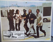 Spanish Language Movie Placard, Aeropuerto 1975, Airport 1975, Vintage Movie Ephemera, George Kennedy, Disaster Movie Memorabilia