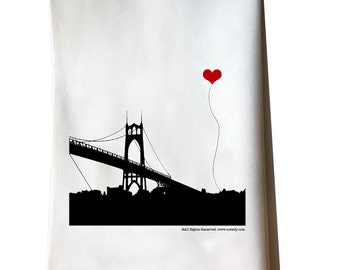 Portland Oregon St. John's Bridge tea towel