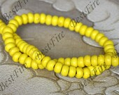 15inch Single 5x8mm yellow turquoise abacus nugget gemstone beads,Turquoise abacus jewelry, Gemstone Bead loose strands