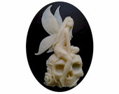40x30 cabochon cosplay fairy skull Zombie cameo Lolita Day of the Dead jewelry sci fi skeleton gothic halloween supply 1 pc 824x