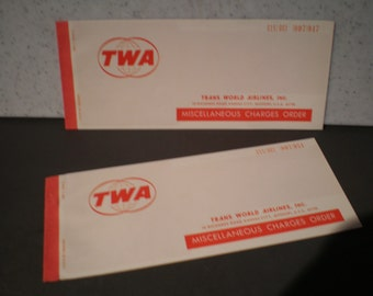 Vintage 1970's TWA - Trans World Airlines Miscellaneous Charge Orders
