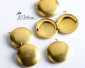 Vintage style 20x23 mm Unplated Raw Brass Locket Pendant  Charms/Pendants-  (LOCK-81)