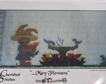 Smocking Plate - ...May Flowers by Cherished Stitches Chris DeMars Victorsen (book 5)