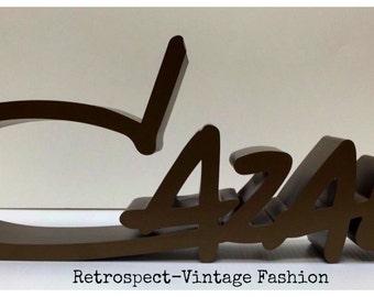 Vintage CAZAL display sign for store Cazal eyewear display CAZAL display OBO