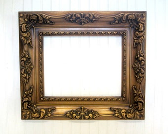 Molded Ornate Resin Plastic Large Rectangle Vintage Picture Frame Gallery Wall