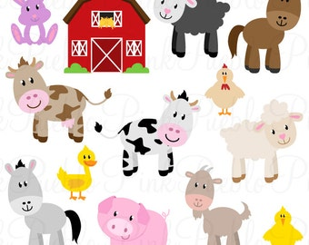 Farm Animals SVGs, Barnyard Animals and Barn Cutting Templates - Commercial and Personal Use