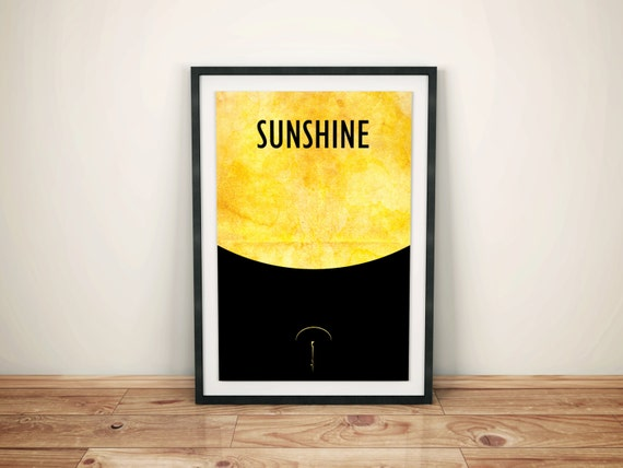A Mote in the Sun // Sunshine Minimalist Movie Poster // Vintage Inspired Cult Movie Print