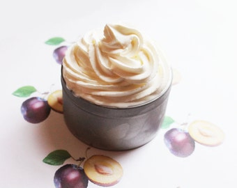 Plum Whipped Soap - Scented Soap - Homemade Soap - Vegan Soap - Glycerin Soap - Cream Soap