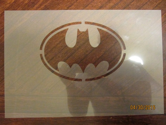 Batman Emblem Stencil for Airbrush Cake decorating by Onemouth