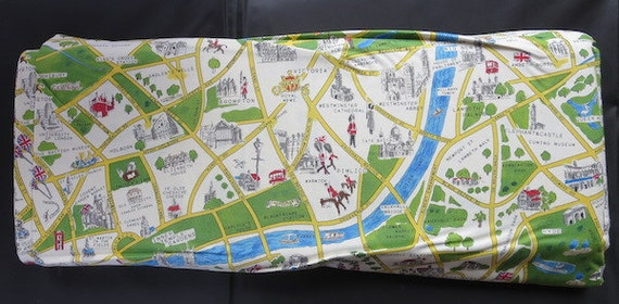 Back In Stock -Moda's New Passport Fabric - Novelty London Map Multi - 33012 11