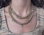 Tribal Brass Beaded Belt/necklace ~ Drops ~