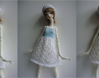 Doll-Chateau KID: Knitted Lacey Full-Skirted Strappy Dress with Headband