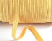 Sunshine Shimmer - Fold Over Elastic - 5 YARDS