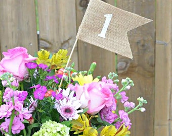 Table Number, Burlap Table Numbers, Wedding Table Numbers, Party Supplies, Party Table numbers, Wedding decorations, Shower table number,