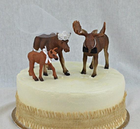 Moose Cake Topper Etsy