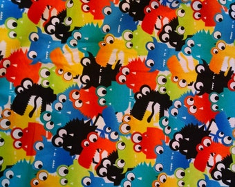 All Over Monsters Fabric by Timeless Treasures 1 7/8 yards