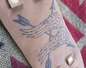 Leather Wrist Cuff With Daryl Dixon Wing Design - Walking Dead