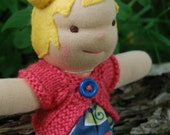 8 Inch Waldorf Doll- Adorable with pigtails