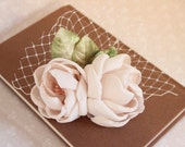 Blush Rose Hair Clip, Blush Headpiece, Bridal Headpiece, Bridal Hair Clip, Floral Hair Accessory, Romantic Hair Clip