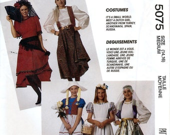 McCall's 5075 Misses' International Costumes Sewing Pattern - Uncut - Size Medium 14-16