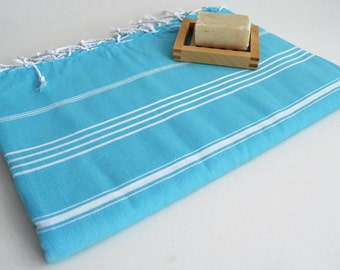 SALE 30 OFF / Classic Blanket / Blue / Beach blanket, Picnic blanket, Sofa throw, Tablecloth, Bedcover