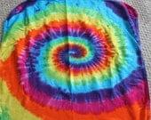 Rainbow tie dye thermal baby blanket