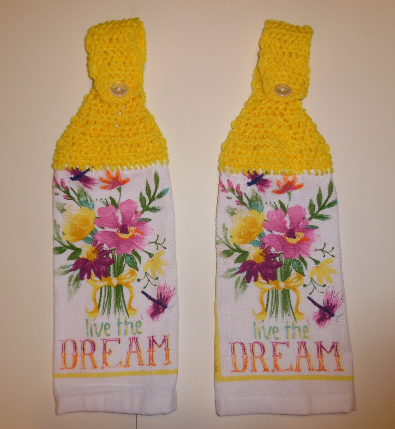 crochet summer towel hand towel kitchen decor summer