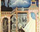 KAY NIELSEN Color Art Illustration for The Fairytale 'CATSKIN' From Hansel And Gretel And Other Stories By The Brothers Grimm, Circa 1980s