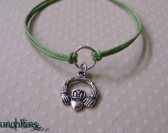 Irish Claddagh - Circle of Life Bracelet or Anklet, made in USA