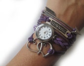 RUNNING - Running bracelet with watch - the perfect little gift for runners