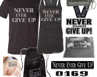 Virtual race - Never Ever Give Up - Running gift for all runners