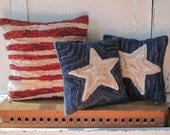 Stars and Stripes Hooked Pillow Set