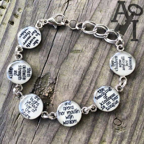 She Is Clothed With Strength And Dignity Bracelet: Proverbs 31 Bracelet Clothed In Strength And Dignity