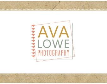 PreDesigned Logo - PreMade Logo - Vector Logo - AVA logo design - Typography Logo - Vintage Modern Logo - Photography Logo - Square Logo