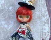 TINY Steampunk 3 piece Set for PETITE Blythe doll Marble mini