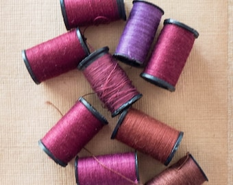 Destash Lot of Small Spool Darning Mending Thread Hand Sewing Supply Craft Notion Small Spools