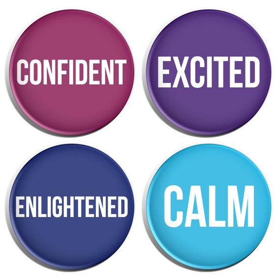 Positive Mood Adjectives Set 3 Confident Excited By