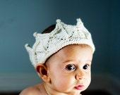 Cream White Snow Princess Crown Headband
