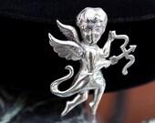 Cupid Brooch by Lang Sterling - ca. 1940s