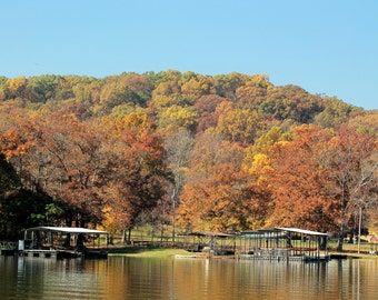 Lake of the Ozarks boat docks in Autumn