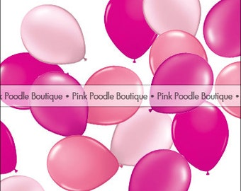 """5"""" MINI latex BALLOONS (6 pc, 12 pc, 24 pc) -- Pearl Magenta, Wild Berry, Rose & Pearl Pink"""