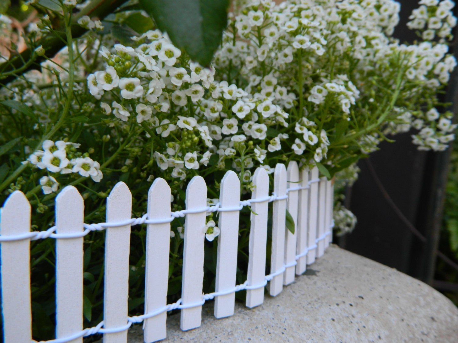 miniature white picket fence fairy garden supply terrarium