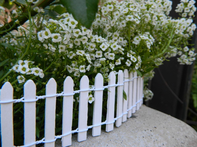 miniature white picket fence fairy garden supply terrarium