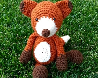 Mr. Fox Plush Toy/ Photography Prop/ Stuffed Toy / Soft Toy/Amigurumi Toy- MADE TO ORDER