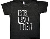 Big Brother Shirt - Boys Top - Sketchy Big Bro Kids Graphic Tee - Boys' Clothing - Kids Shirt - Boys Shirt - Toddler