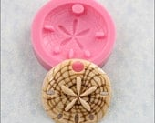 Sand Dollar Silicone Mold Mould for candy, fondant, polymer clay, resin, wax, pmc (298)