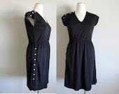 SALE : Leslie J Black, White Dress, Size XL or Large