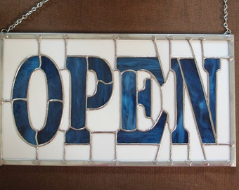 Stained Glass OPEN Sign