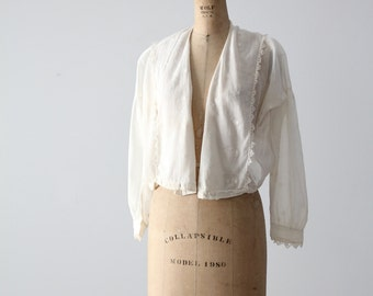 Edwardian blouse, 1900s sheer cotton top